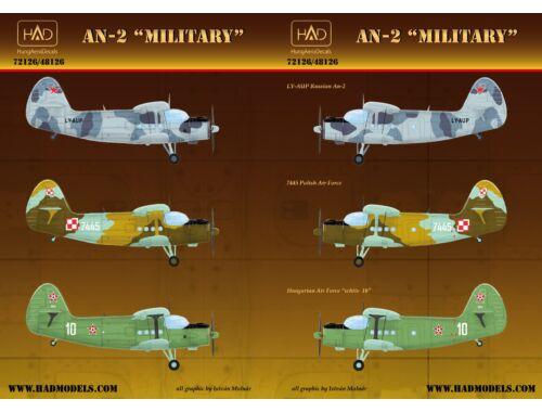 HADmodels An-2 Military matrica 1:72 (72126)