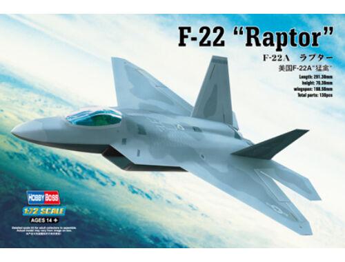 Hobby Boss F-22A ''Raptor'' 1:72 (80210)