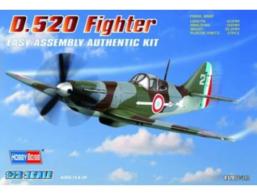 Hobby Boss French D.520 Fighter 1:72 (80237)