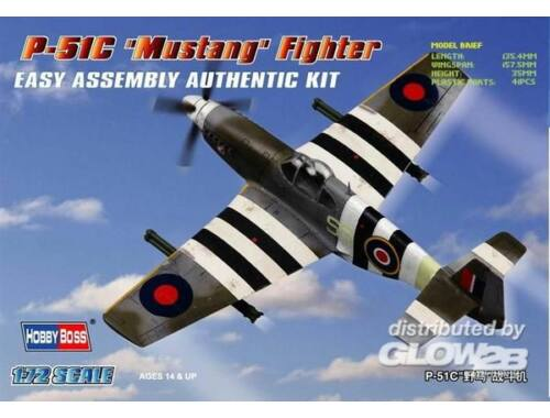 Hobby Boss P-51C 'Mustang' Fighter 1:72 (80243)