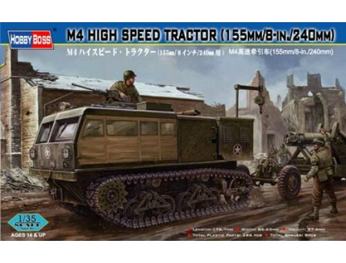 Hobby Boss M4 High Speed Tractor(155mm/8-in./240mm) 1:35 (82408)
