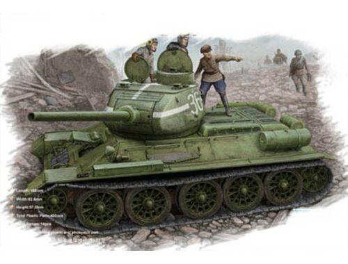 Hobby Boss Russian T-34/85 (1944 flattened turret) tank 1:48 (84807)