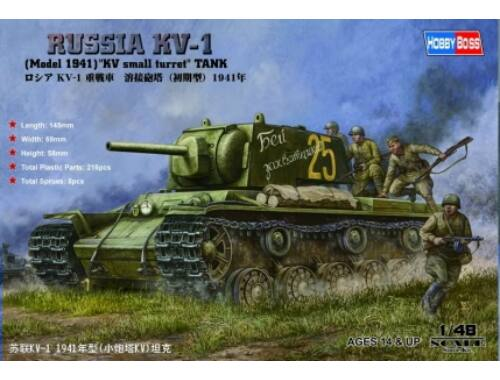 Hobby Boss Russian KV-1 1941 Small Turret tank 1:48 (84810)