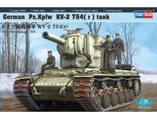 Hobby Boss German Pz.Kpfw KV-2 754(r) tank 1:48 (84819)