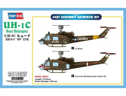 Hobby Boss UH-1C Huey Helicopter 1:48 (85803)