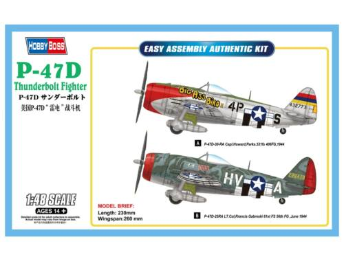 Hobby Boss P-47D Thunderbolt Fighter 1:48 (85804)