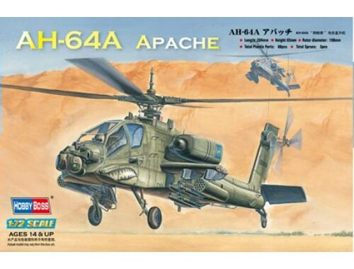 Hobby Boss AH-64A Apache Attack Helicopter 1:72 (87218)