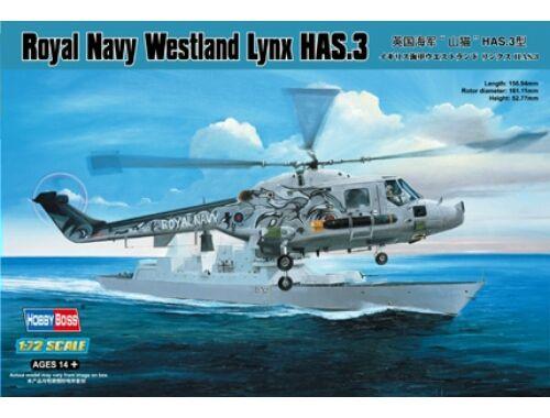 Hobby Boss Royal Navy Westland Lynx HAS.3 1:72 (87237)