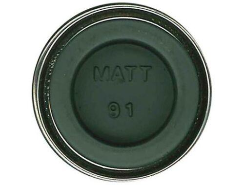 Humbrol Enamel 091 Black Green Matt (AA1002)