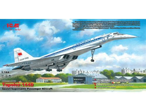 ICM Tupolev-144D Supersonic Passenger Aircraft 1:144 (14402)
