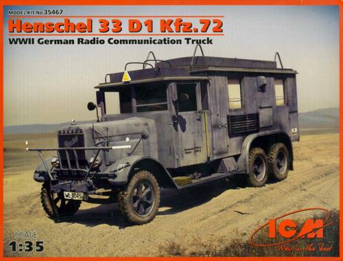ICM Henschel 33 D1 Kfz.72 Radio Truck 1:35 (35467)