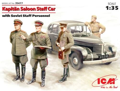 ICM Captain Saloon Staff Car with Soviet SP 1:35 (35477)