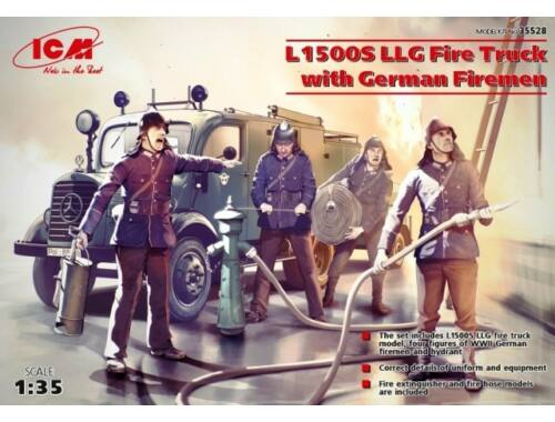 ICM L1500S LLG Fire Truck with Firemen 1:35 (35528)