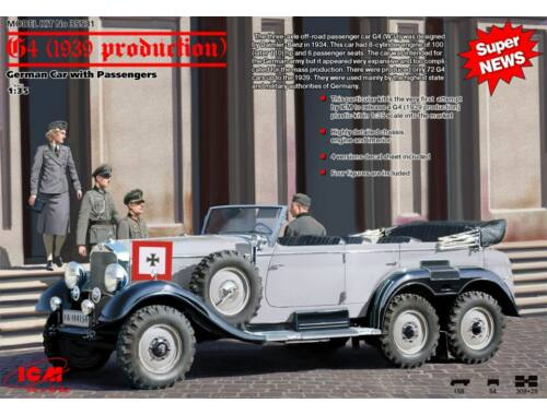 ICM G4 (1939), German Car With Passengers 1:35 (35531)
