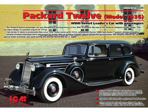 ICM Packard Twelve 1936 WWII Soviet Leader's Car with Passengers 1:35 (35535)