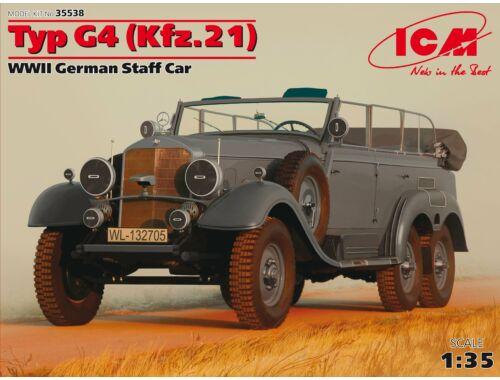 ICM Type G4 (Kfz.21), WWII German Staff Car 1:35 (35538)
