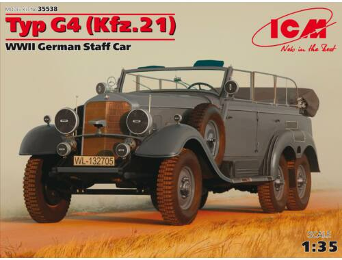 ICM Type G4 (Kfz.21), WWII German Staff Car 1:35 (35538)