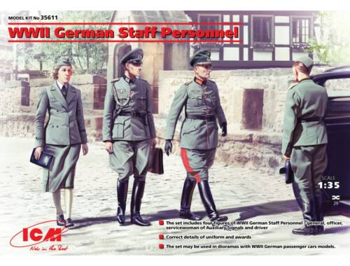 ICM WWII German Staff Personnel (4 figures) 1:35 (35611)