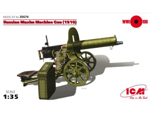 ICM Russian Maxim Machine Gun 1909 1:35 (35674)