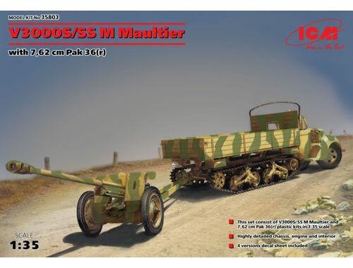 ICM V3000S / SS M Maultier w.7.62cm Pak 36 (r) 1:35 (35803)