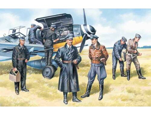 ICM German Air Force pilots and ground crew 1:48 (48082)
