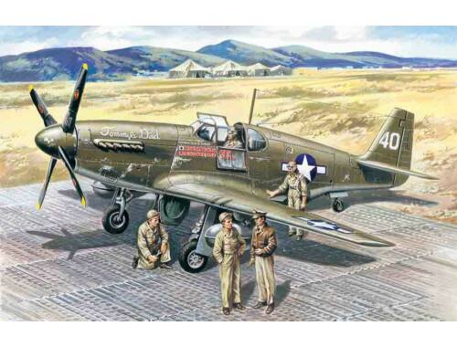ICM Mustang P-51 B with USAAF Pilots and Ground Personnel 1:48 (48125)