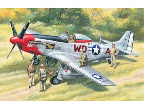 ICM Mustang P-51D with USAAF Pilots and Ground Personnel 1:48 (48153)