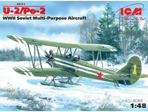 ICM U-2 / Po-2, WWII Soviet Multi-Purpose Aircraft 1:48 (48251)