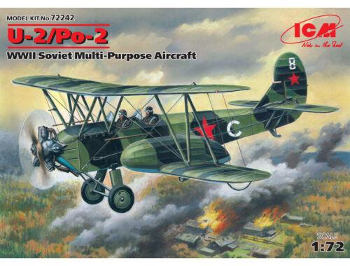 ICM U-2 / Po-2, WWII Soviet Multipurpose Aircraft 1:72 (72242)