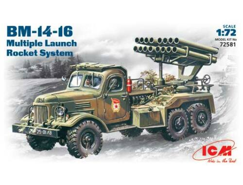 ICM Russian missile launcher BM-14-15 1:72 (72581)