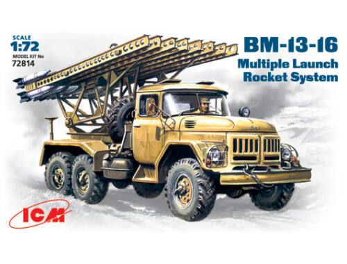 ICM BM-13-16 rocket launchers 1:72 (72814)