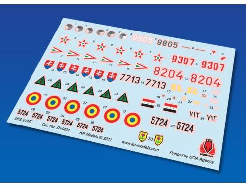 KP Mig-21MF Decal Set (6 Colors) 1:144 (D14401)