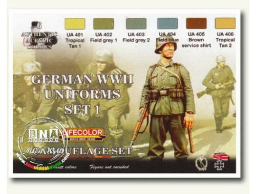 Life Color German military uniforms WWII set n.1 (CS04)
