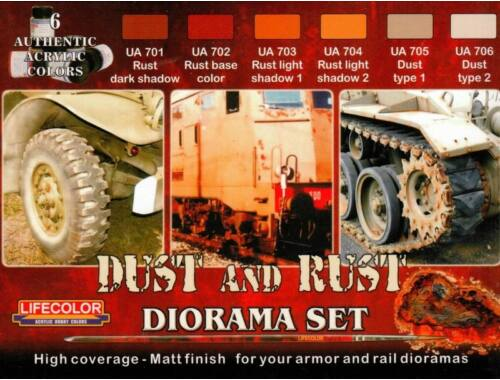 Life Color Dust and Rust color set for diorama /6 (CS10)