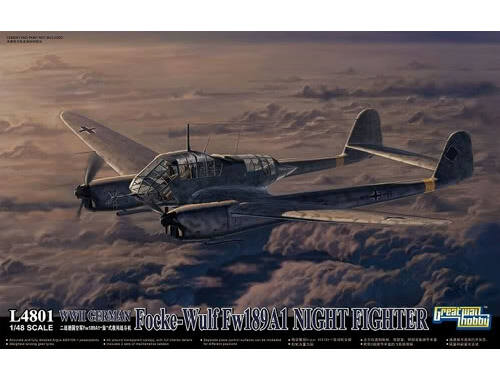 Lion Roar WWII German Fw 189A-1 Night Fighter 1:48 (L4801)