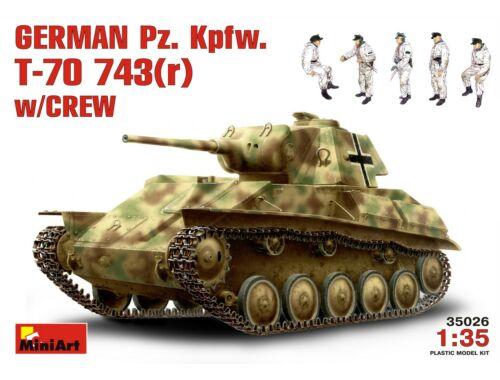 Miniart German Pz.Kpfw. T-70 743(r) w/ Crew 1:35 (35026)
