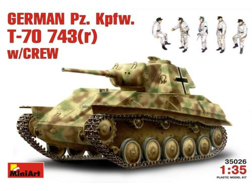 Miniart German Pz.Kpfw. T-70 743(r) w/ Crew 1:35 (35026)