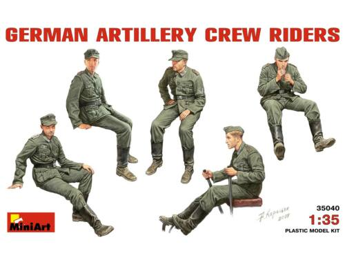 Miniart German Artillery Crew Riders 1:35 (35040)