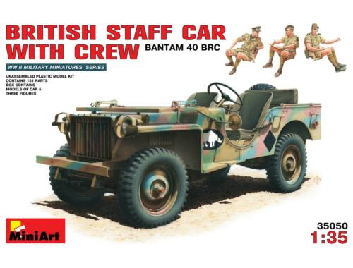 Miniart British Staff Car w/Crew 1:35 (35050)