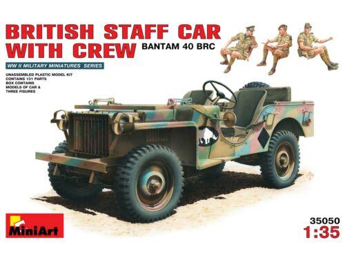 Miniart British Staff Car w/Crew 1:35 (35050)