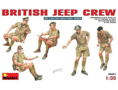 Miniart British Jeep Crew. 1:35 (35051)