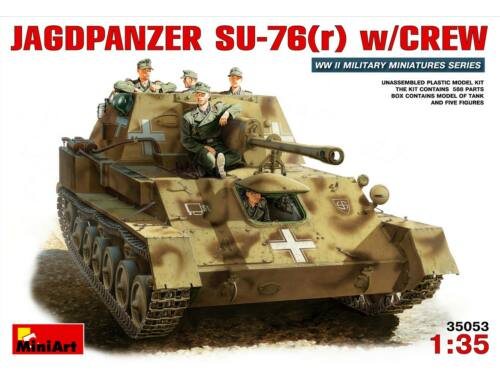 Miniart German Jagdpanzer SU-76 (r) w/crew 1:35 (35053)