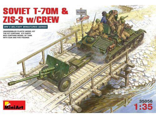 Miniart Soviet T-70 M   ZiS -3 w/ Crew 1:35 (35056)