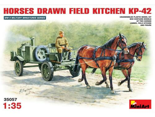 Miniart Horses Drawn Field Kitchen KP-42 1:35 (35057)