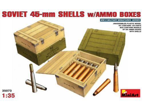 Miniart Soviet 45-mm Shells w/ Ammo Boxes 1:35 (35073)