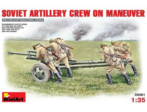 Miniart Soviet Artillery Crew on Maneuver 1:35 (35081)