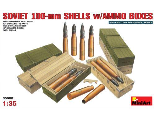 Miniart Soviet 100-mm Shells w/ Ammo Boxes 1:35 (35088)