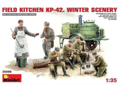 Miniart Field Kitchen KP-42. Winter Scenery 1:35 (35098)