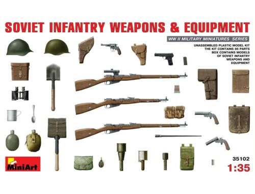 Miniart Soviet Infantry Weapons and Equipment 1:35 (35102)