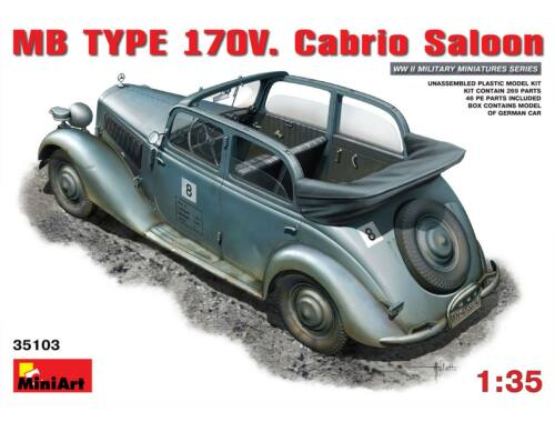 Miniart MB TYPE 170V Cabrio Saloon 1:35 (35103)